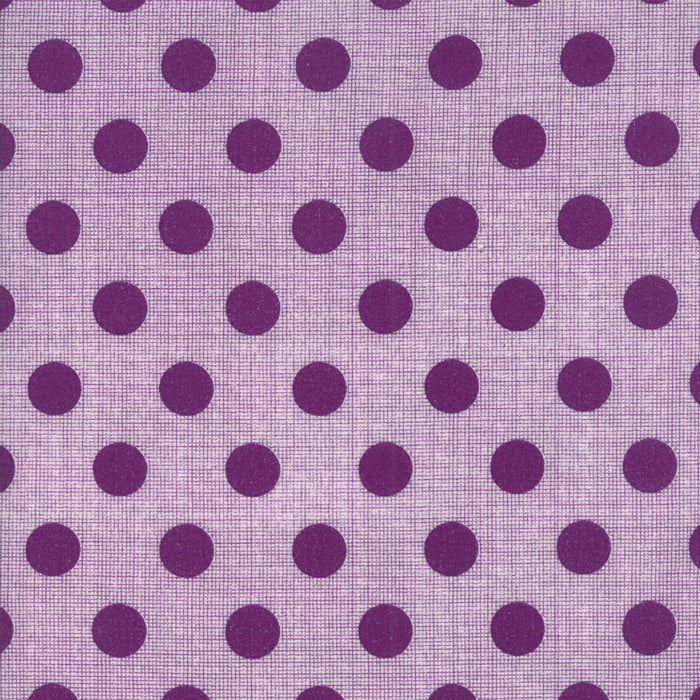 Circulus by Jen Kingwell : Movelty Dots in Iris : Moda