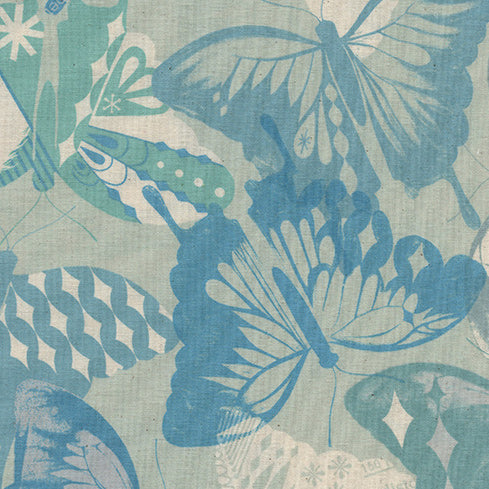 Flutter by Melody Miller : Flutter in Aqua  : Cotton and Steel