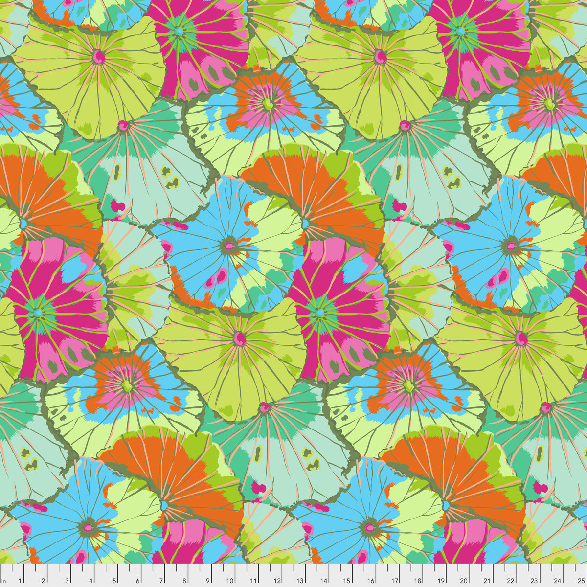 Kaffe Fassett Spring 2018 : Lotus Leaf in Lime : Free Spirit