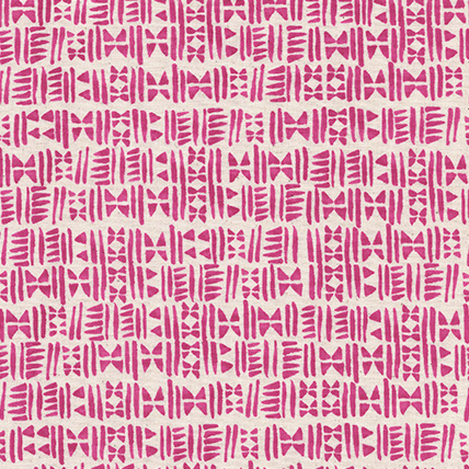 Panorama by Cotton and Steel : Stamps in Hot Pink : Cotton and Steel