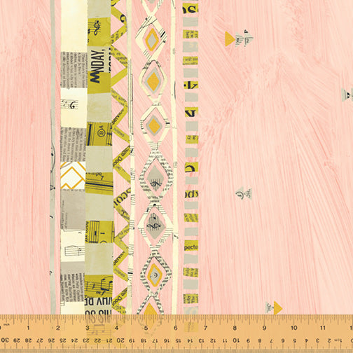 Wish by Carrie Bloomston : Zig Zag Border in Millennial Pink : Windham