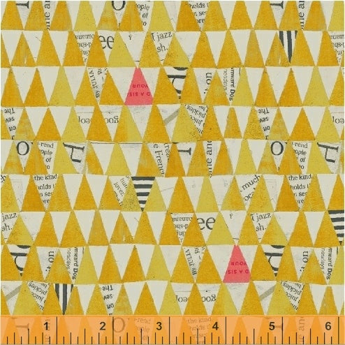 Wonder by Carrie Bloomston : Stacked Triangles in Yellow : Windham
