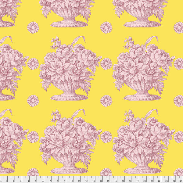 Kaffe Fassett Collective Fall 2018 : Stone Flower in Yellow : Free Spirit