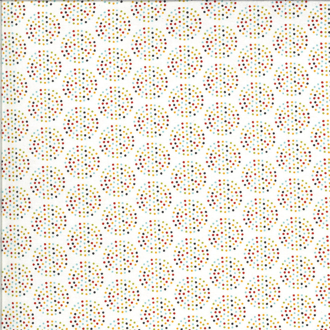 Animal Crackers by Sweetwater : 5806-25B in Vanilla Multi : Moda : Brushed Cotton