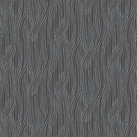 Farm to Fabric : Scallion Texture in Black : Andover