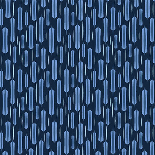 Once in a Blue Mood by Yolanda Fundora : Long Stitch in Dark Blue : Blank Quilting