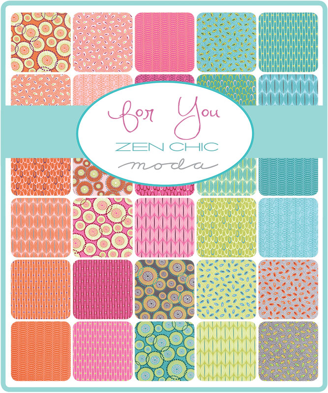 For You by Zen Chic :  Fat Quarter Bundle : Moda