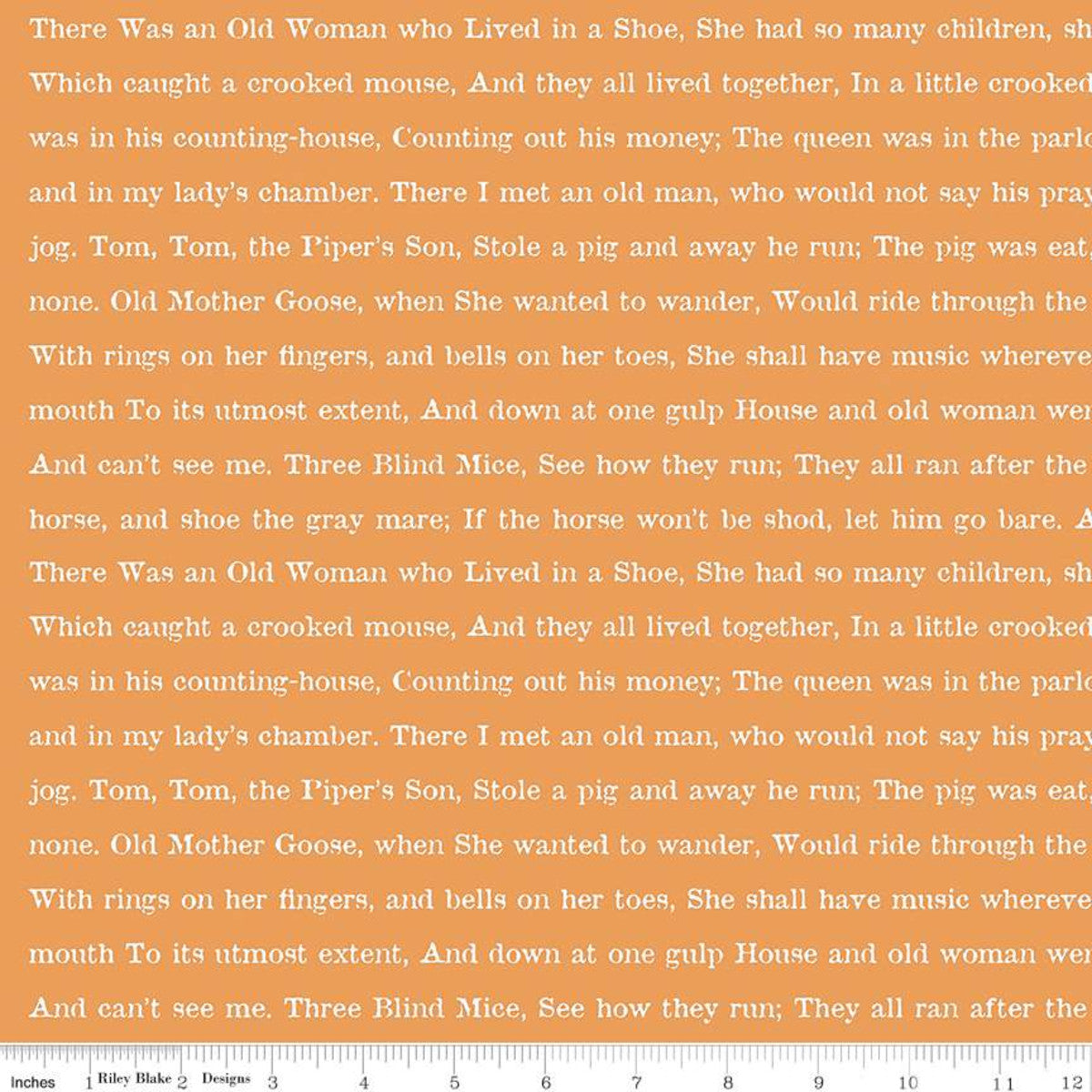 Goose Tales by Janet Wecker Frisch : Text in Orange : Riley Blake