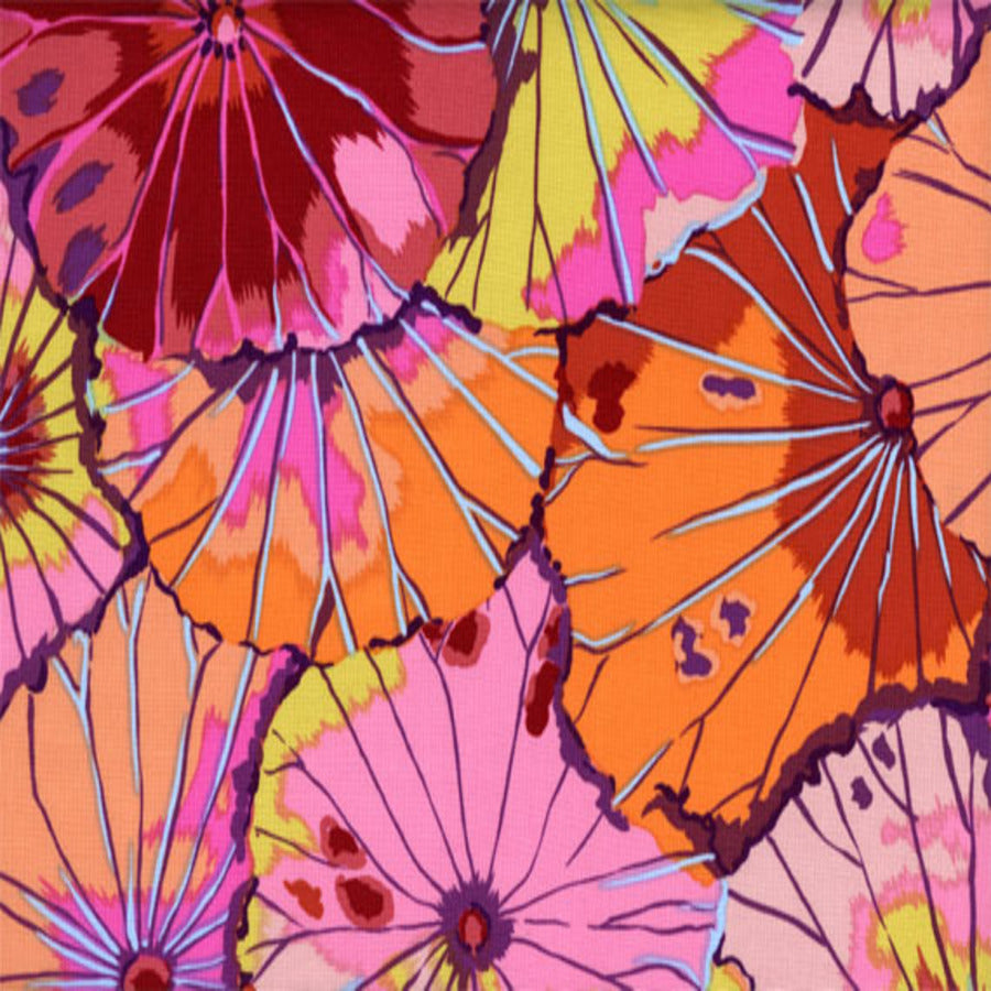 Kaffe Fassett : Lotus Leaf in Red : Free Spirit