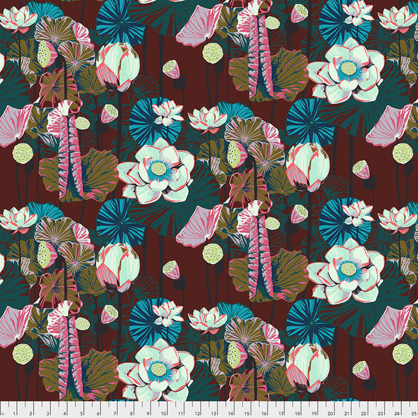 One Mile Radiant by Anna Maria Horner Conservatory Chapter 3 : Lotus in Garnet : Free Spirit Fabrics