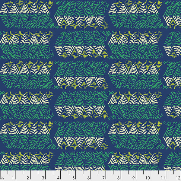 One Mile Radiant by Anna Maria Horner Conservatory Chapter 3 : Mountain Streams in Verdant : Free Spirit Fabrics