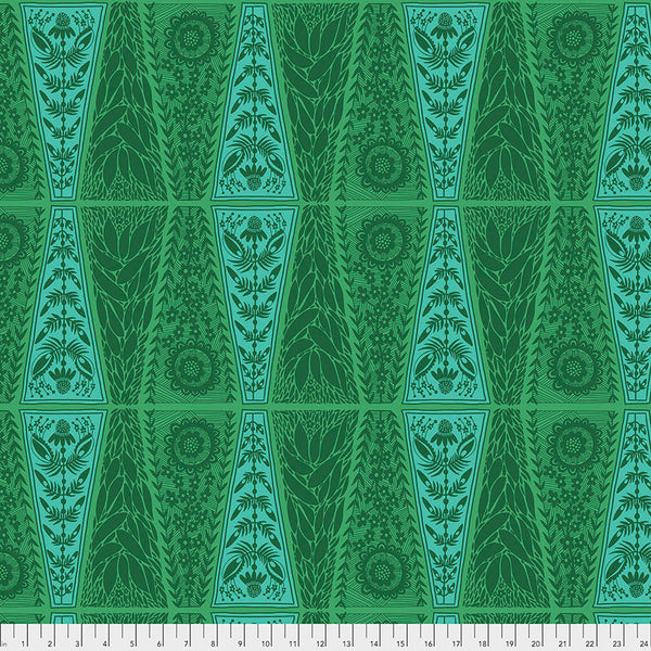 Triple Take by Anna Maria Horner Conservatory Chapter 4 : New Dresden Lace in Grass : Free Spirit Fabrics