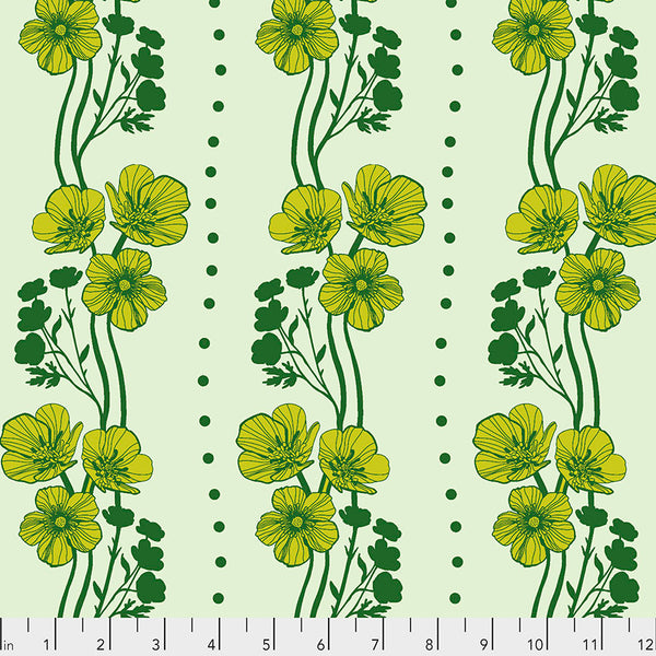Triple Take by Anna Maria Horner Conservatory Chapter 4 : New Buttercups in Lime : Free Spirit Fabrics