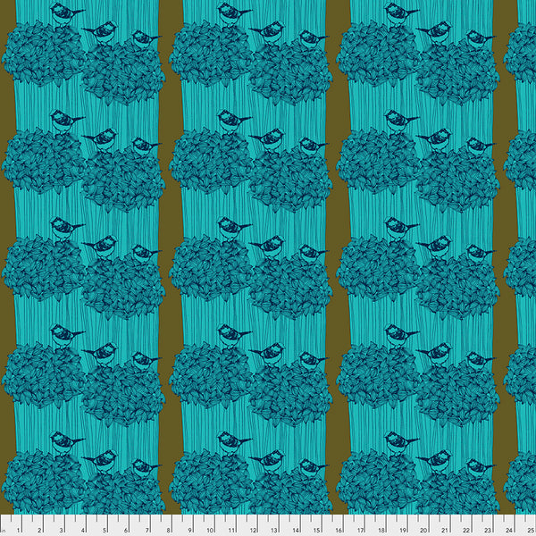 After the Rain by Bookhou Conservatory Chapter 3 : Birdseed in Royal : Free Spirit Fabrics