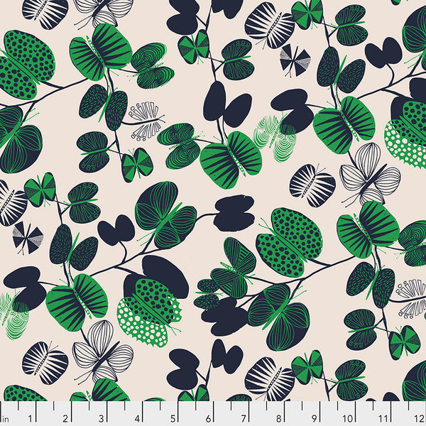 After the Rain by Bookhou Conservatory Chapter 3 : Butterfly Leaves in Jade : Free Spirit Fabrics