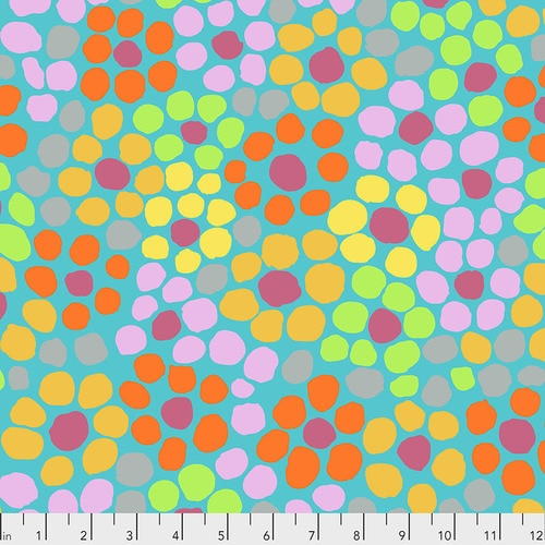 Brandon Mably : Flower Dot in Aqua : Free Spirit