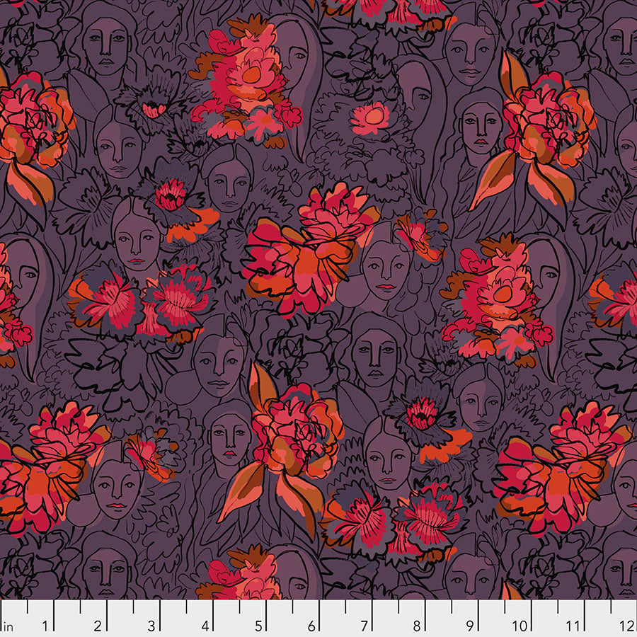 Long Distance by Courtney Cerruti Conservatory Chapter 2 : Parlant Aux Fleurs in Zinnia : Free Spirit Fabrics