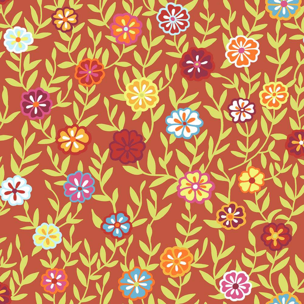 Kaffe Fassett : Busy Lizzy in Red : Free Spirit