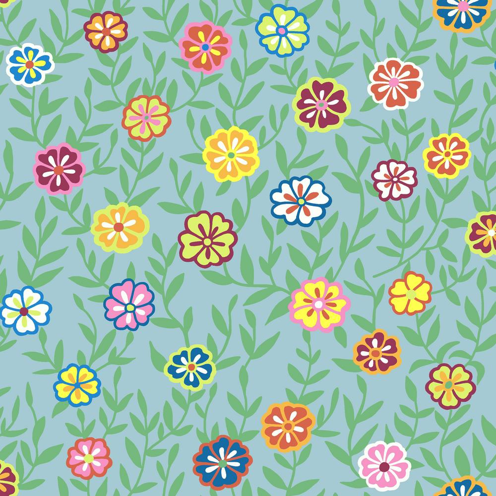 Kaffe Fassett : Busy Lizzy in Turquoise : Free Spirit