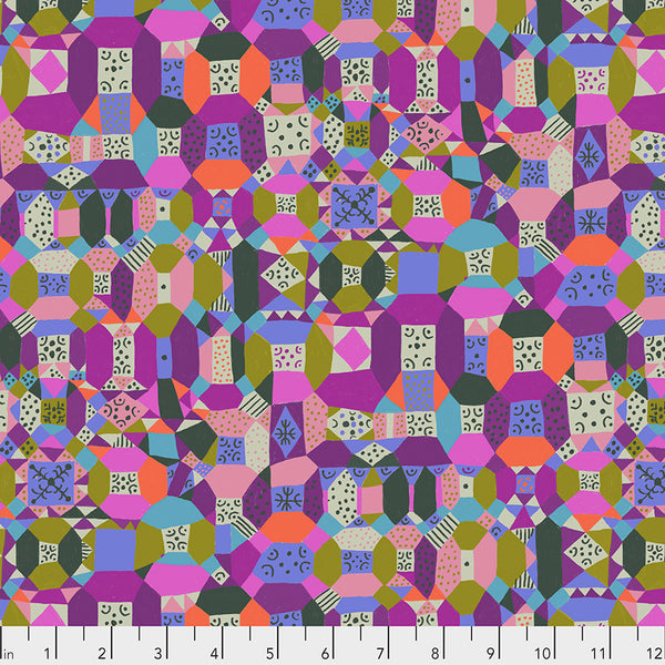 Endless Summer by Monika Forsberg Conservatory Chapter 3 : Groove in Purple : Free Spirit Fabrics