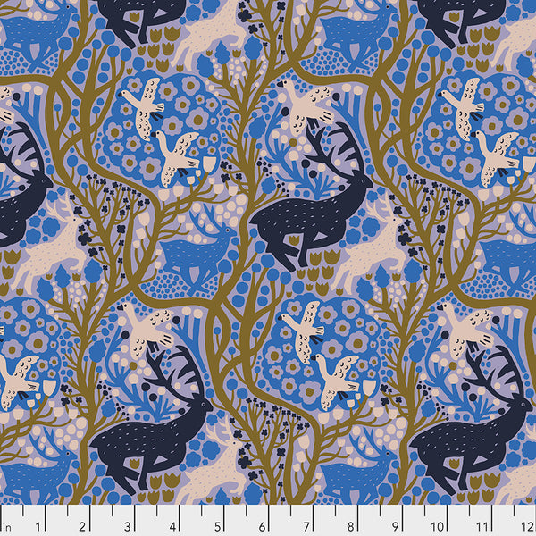 Endless Summer by Monika Forsberg Conservatory Chapter 3 : Onward in Blueberry : Free Spirit Fabrics