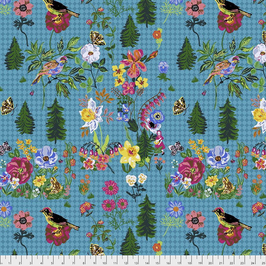 Souvenir by Nathalie Lete Conservatory Chapter 2 : On My Way in Water : Free Spirit Fabrics