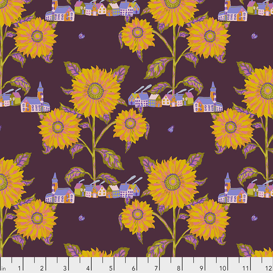 Souvenir by Nathalie Lete Conservatory Chapter 2 : Sunny Village in Maize : Free Spirit Fabrics