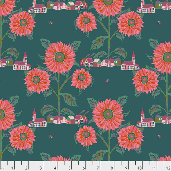 Souvenir by Nathalie Lete Conservatory Chapter 2 : Sunny Village in Sea : Free Spirit Fabrics