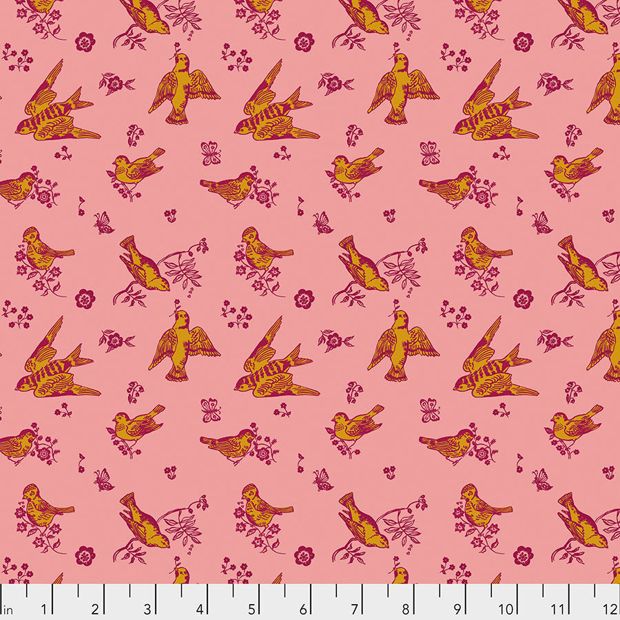 Souvenir by Nathalie Lete Conservatory Chapter 2 : Birds and Love in Cheeky : Free Spirit Fabrics