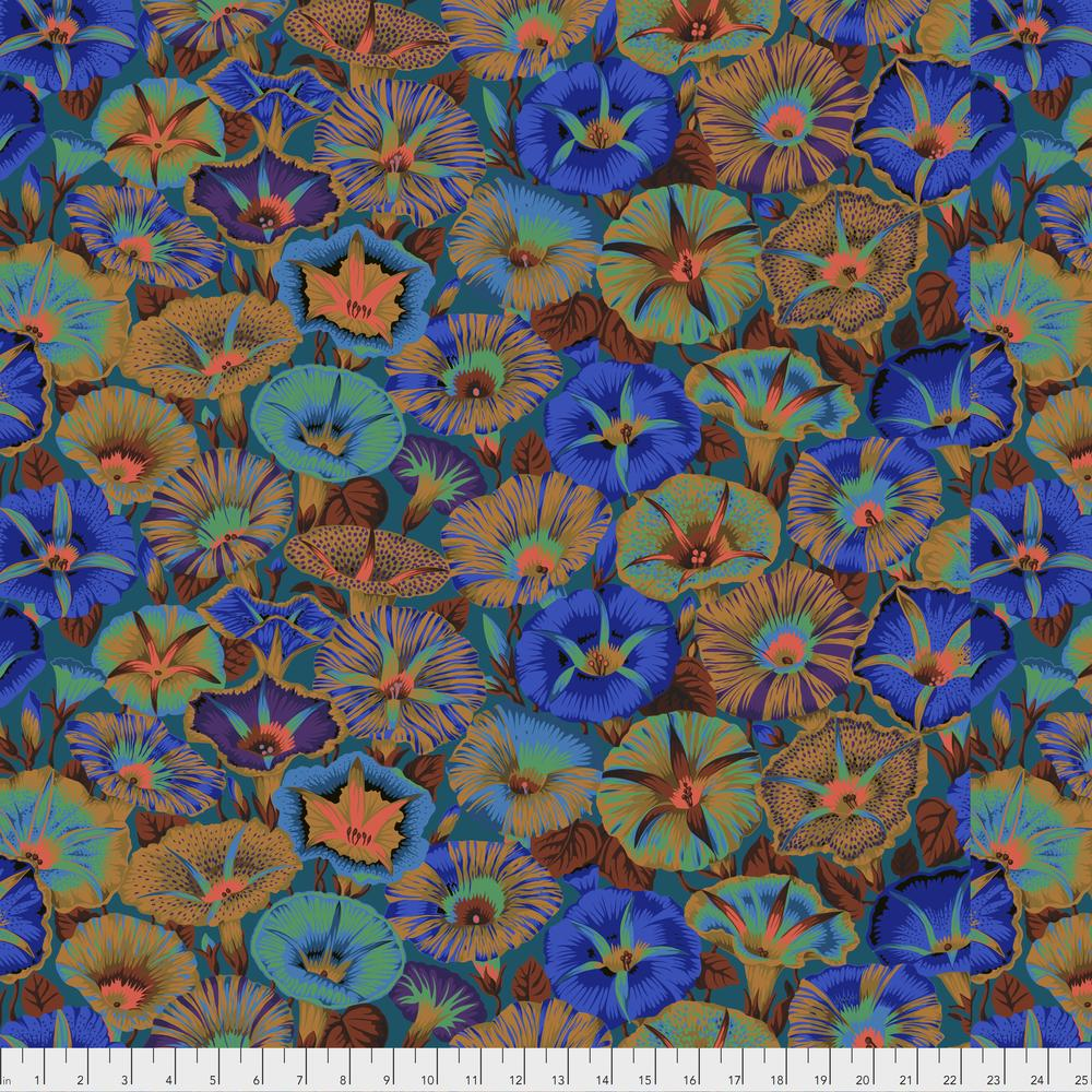 Philip Jacobs : Variegated Morning Glory in Blue : Free Spirit