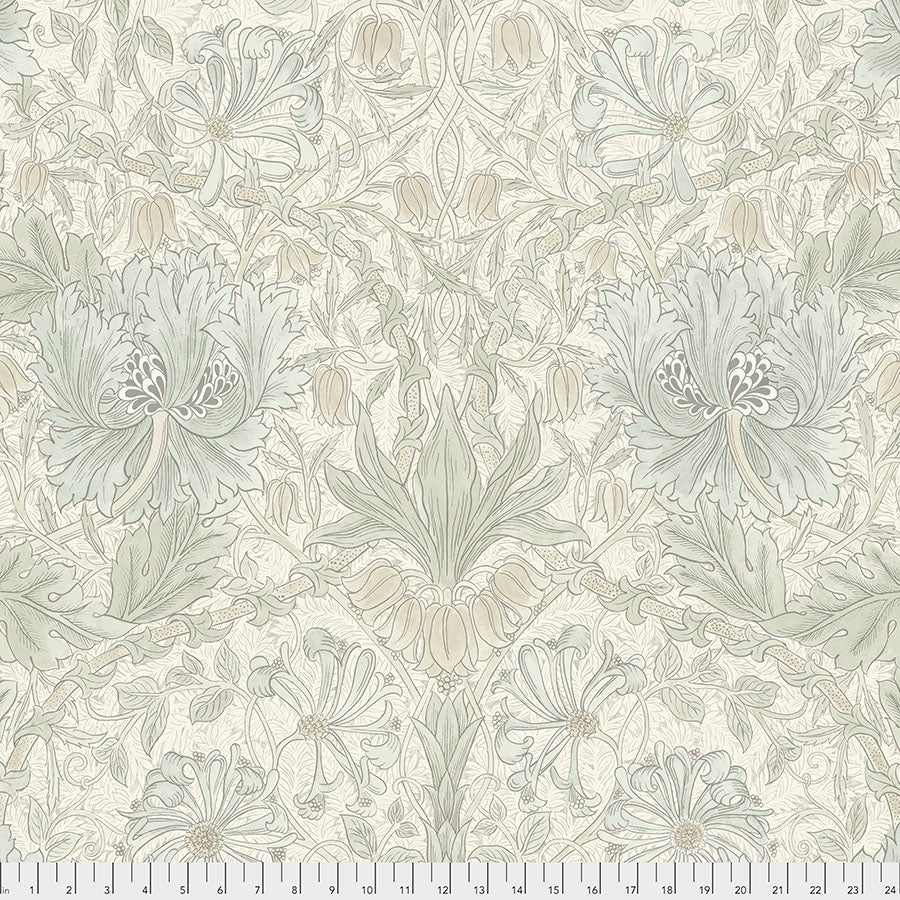 Pure Morris Mineral by Morris & Co : Pure Honeysuckle & Tulip in Ivory : Free Spirit