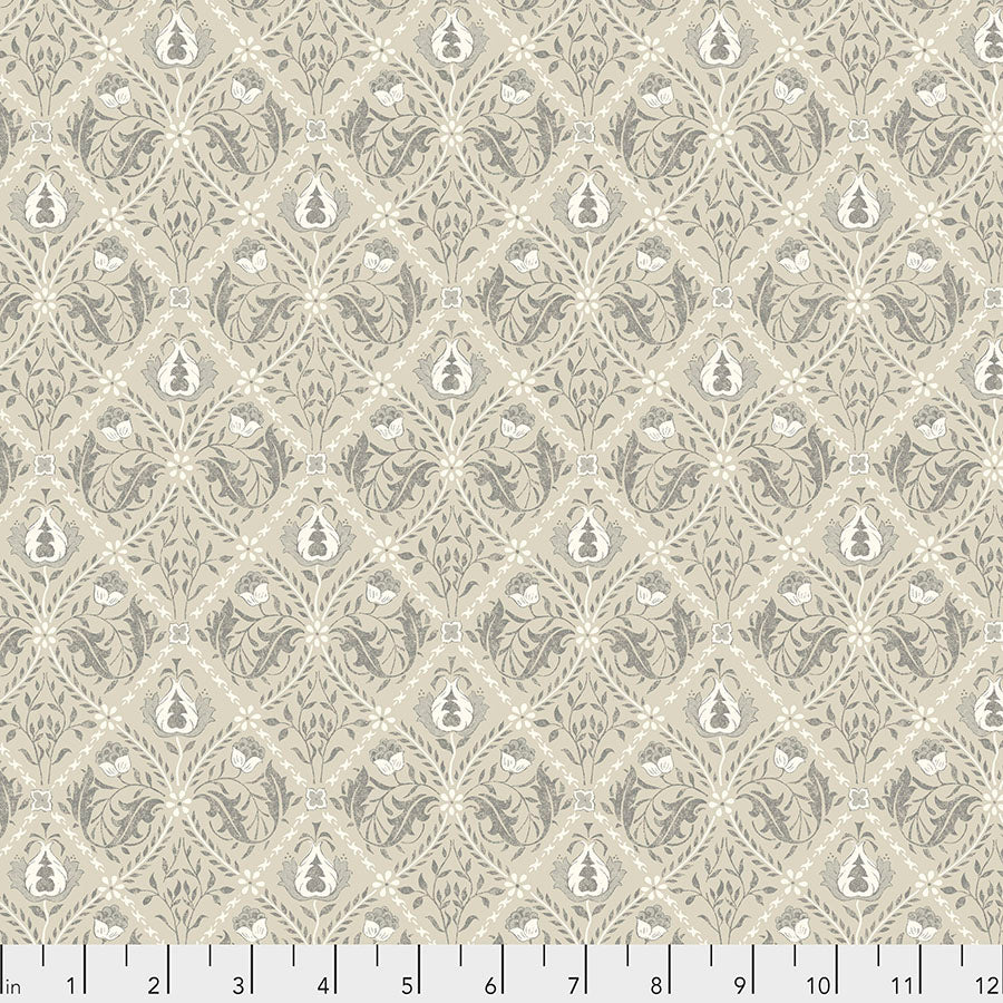 Pure Morris Mineral by Morris & Co : Pure Trellis in Linen : Free Spirit