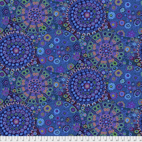 Kaffe Fassett Collective : Millefiore in Blue : Free Spirit : Wideback