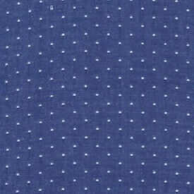 Cotton Chambray Dots : Royal : Robert Kaufman