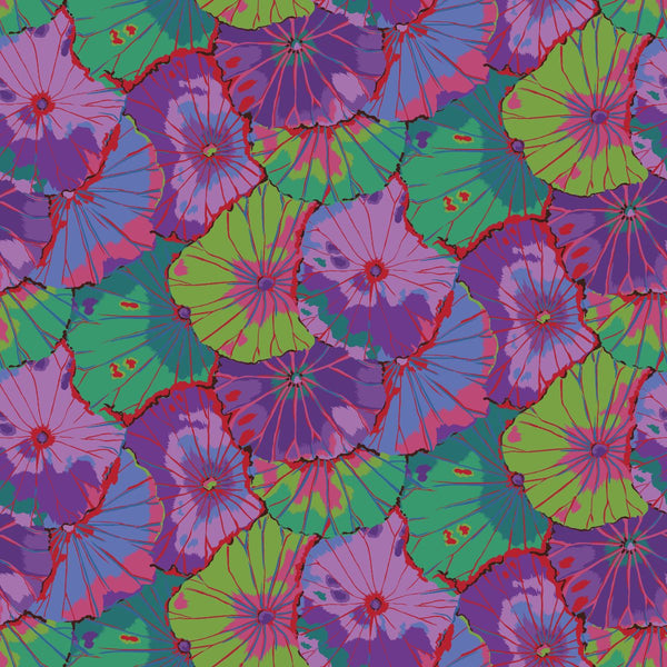 Kaffe Fassett Collective : Lotus Leaf in Purple : Free Spirit : Wideback