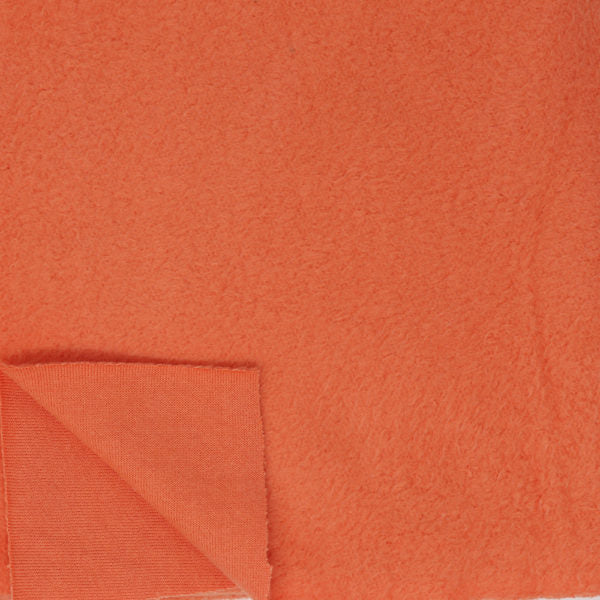 Knit Fleece in Persimmon : Birch Fabrics : Organic Knit