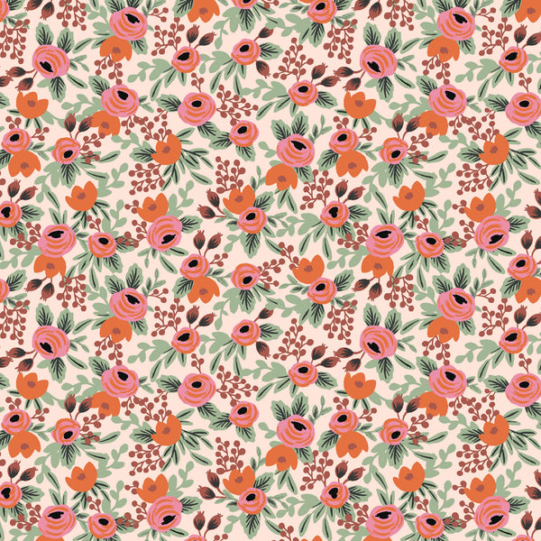 Primavera by Rifle Paper Co : Rosa in Blush : Cotton and Steel