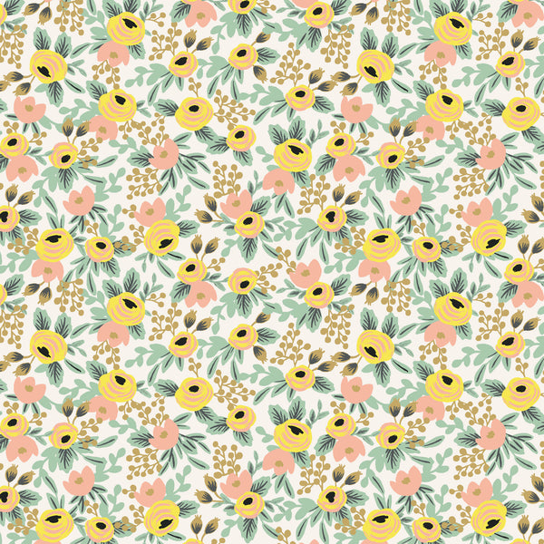 Primavera by Rifle Paper Co : Rosa in Cream : Cotton and Steel