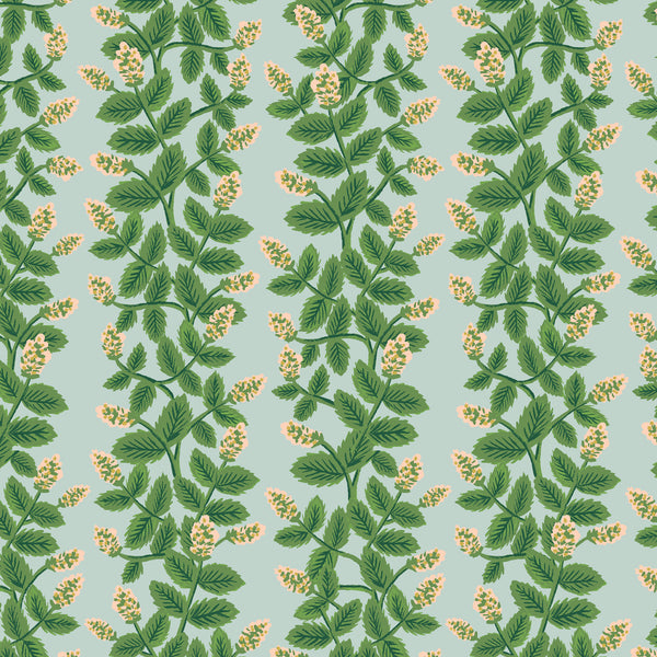 Primavera by Rifle Paper Co : Climbing Vines in Mint : Cotton and Steel