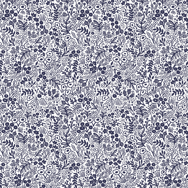 Rifle Paper Co Basics : Tapestry Lace in Navy : Cotton and Steel