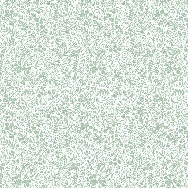 Rifle Paper Co Basics : Tapestry Lace in Sage : Cotton and Steel