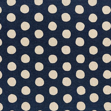 Canvas Natural Dots by Sevenberry : Midnight : Robert Kaufman