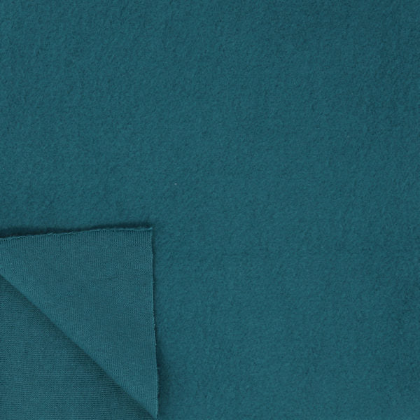 Knit Fleece in Teal : Birch Fabrics : Organic Knit