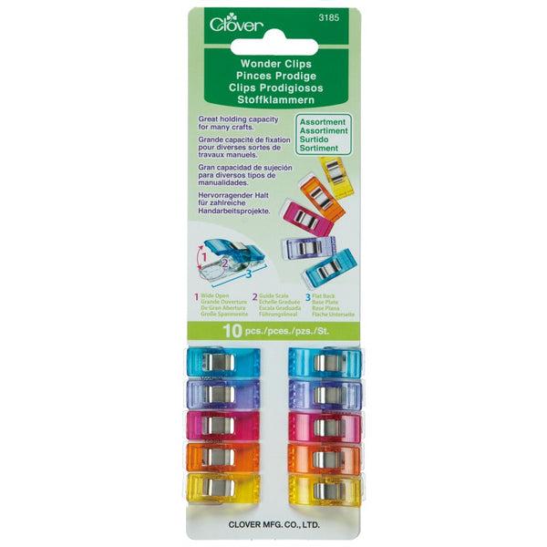 Rainbow Wonder Clips - 10 Count