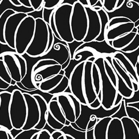 Midnight Glow by Sue Zipkin : Pumpkin Drawings in Black : Clothworks