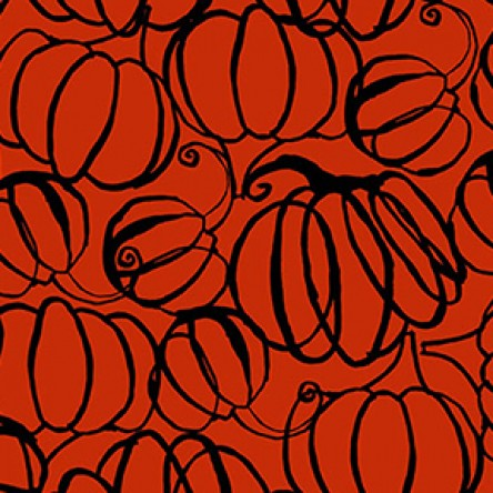 Midnight Glow by Sue Zipkin : Pumpkin Drawings in Orange : Clothworks