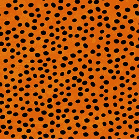 Midnight Glow by Sue Zipkin : Dots in Orange : Clothworks