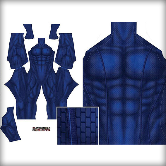 BLUE UNDERSUIT - SupergeekDesigns