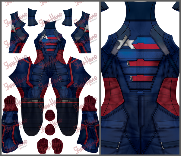 WINTER SOLDIER (New TV show suit - SupergeekDesigns