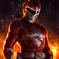 RED RANGER - BATTLE DAMAGED - SupergeekDesigns